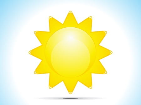 abstract sun icon vector illustration  Stock Vector - 13172292
