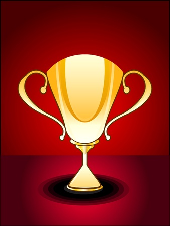 abstract glossy trophy vector illustration  Vector