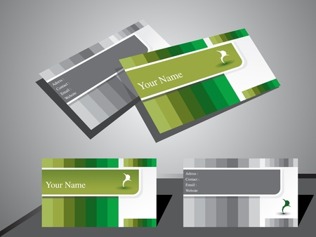 visiting: abstract classic business card vector illustration