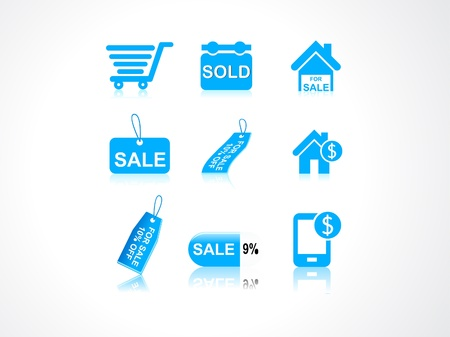 abstract sale icons vector illustration  Vector