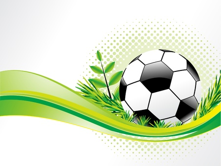 abstract eco background with football vector illustration  Vector