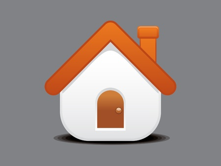 home button: abstract home icon vector illustration