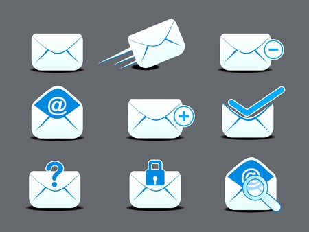 abstract mail  icon set vector illustration  Stock Vector - 13419539