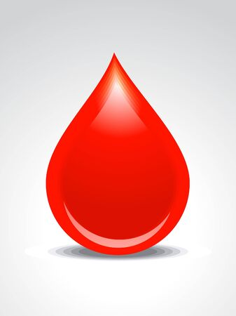 blood type: abstract blood drop vector illustration