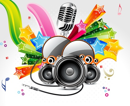 abstract musical background with sound vector illustration