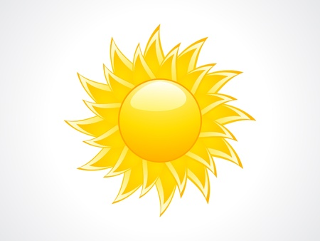 abstract sun icon illustration  Vector