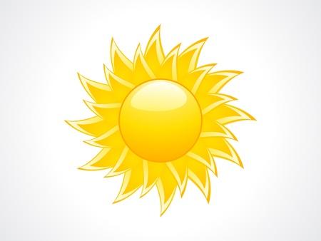 abstract sun icon illustration Stock Vector - 13561470