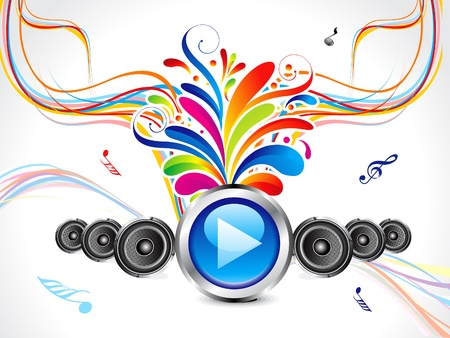 abstract colorful musical background vector illustration Stock Vector - 13561477
