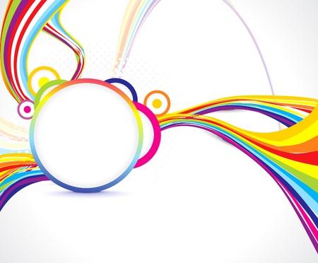 abstrakce: abstraktní barevné vlny pozadí, ilustrace