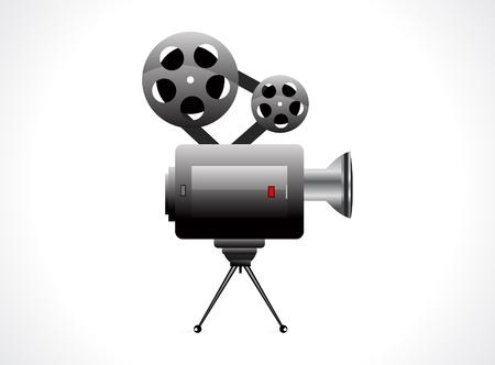 camera flash: abstract video camera icon illustration  Illustration