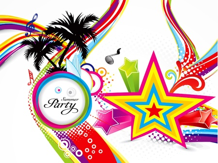 discotheque: abstract colorful summer background illustration  Illustration