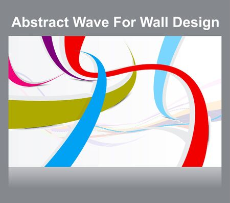 abstract colorful wall wave background illustration Stock Vector - 13774451