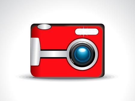 insight: abstract digital camera icon Illustration