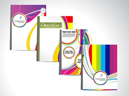 flayer: abstract colorful flayer  Illustration