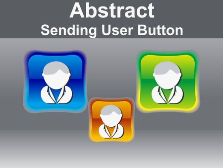 abstract glossy user icon button vector illustration  Vector