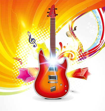 abstract musical background with raise  Vector