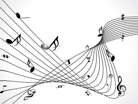 notation: abstract musical background  Illustration
