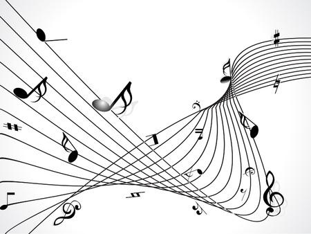 clave de fa: fondo musical abstracta