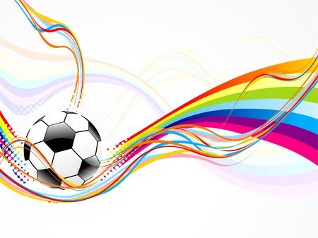 symbol sport: abstrakte Welle Hintergrund mit Fußball