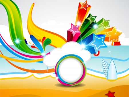 abstract summer background with explode star Vector