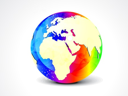 abstract colorful globe illustration
