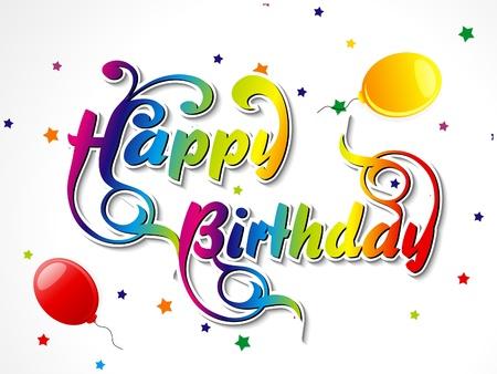 verjaardag ballonen: abstracte gelukkige verjaardagskaart vector illustrator Stock Illustratie