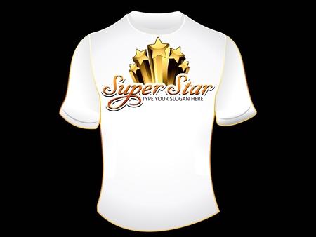 superstar: abstract superstar tshirt vector illustration