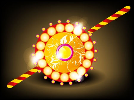 abstract tradistional rakhi vector illustration  Vector