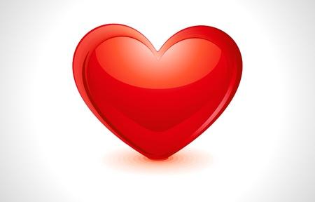 abstract glossy  heart  Illustration