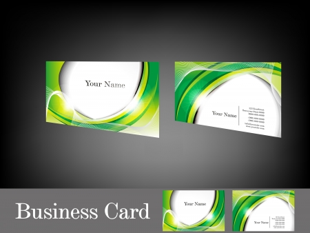 Abstract green business card vector illustration royalty free abstract glossy green business card vector reheart Choice Image