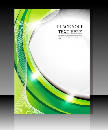 abstract glossy green flyer