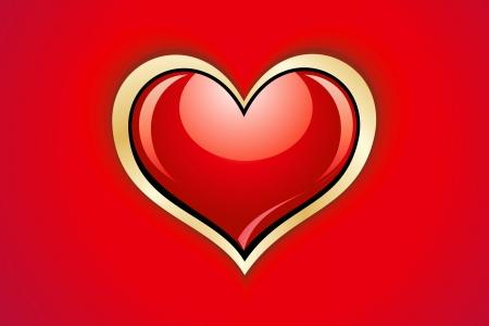 abstract glossy heart Stock Vector - 14743679