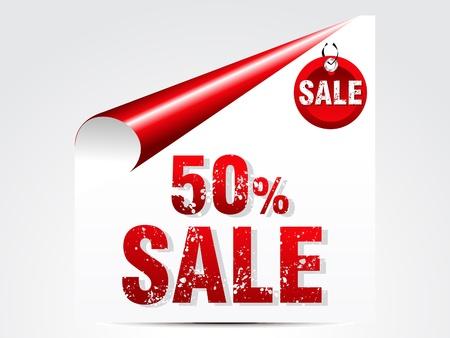 anniversary sale: abstract 50   sale vector illustration  Illustration