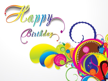 birthday present: abstract birthday card vector illustration  Illustration