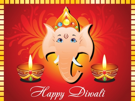 abstract diwali card vector illustration  Vector