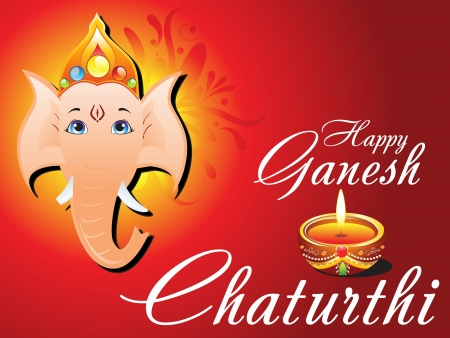 divinit�: abstrait Ganesh Chaturthi illustration vectorielle carte
