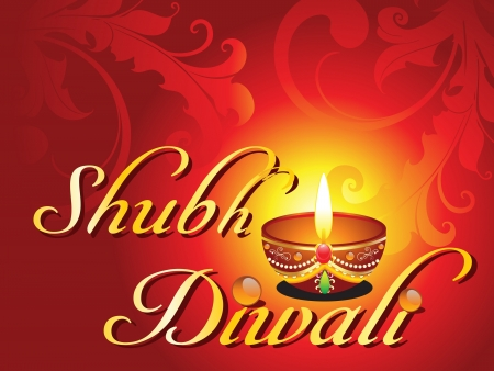 abstract shubh diwali card vector illustration Vector