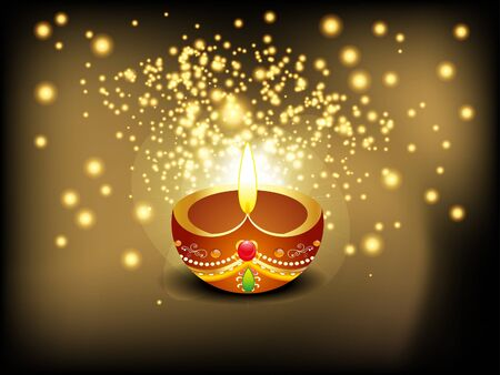abstract diwali background with sparkle vector illustration  Vector