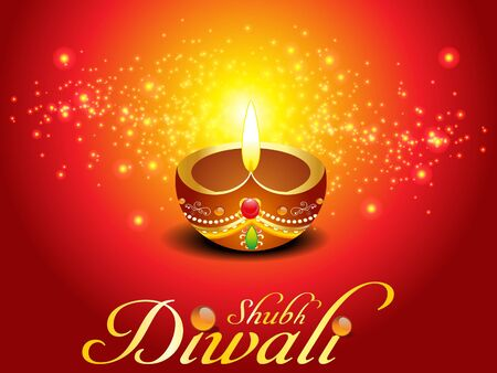 abstract diwali background vector illustration  Vector