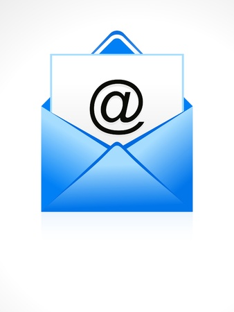 abstract blue email icon vector illustration