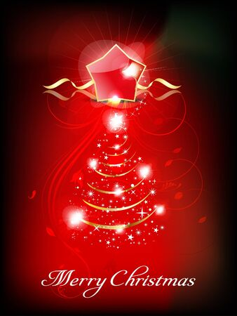 abstract Christmas background with floral