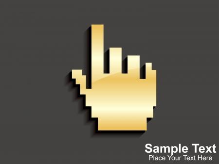 abstract golden hand cursor Stock Vector - 15503746