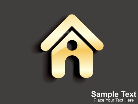 abstract golden home icon   Vector