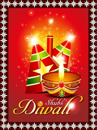 abstract diwali background with sparkle  Vector