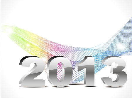 abstract new year background with colorful wave  Vector
