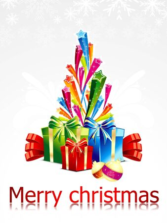 abstract chirstmas background with sarts  Vector