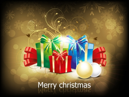 parvati: abstract christmas background with girft box