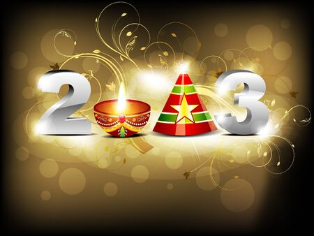 hollyday: abstract glossy new year wallpaper