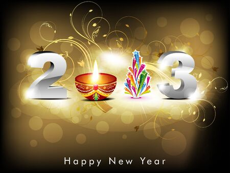 hollyday: abstract new year background