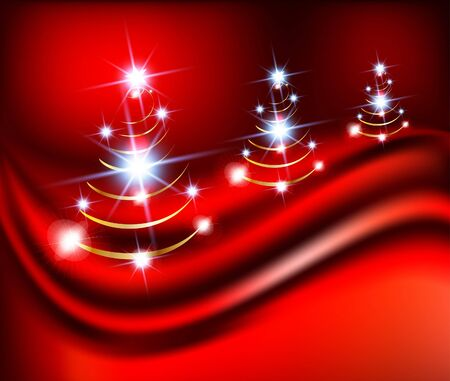 abstract glossy christmas background  illustration
